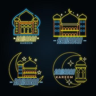 Набор рамадана неоновая вывеска