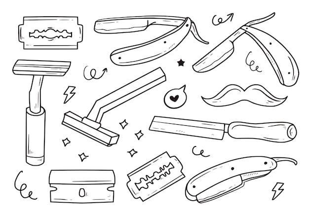Набор бритвенных лезвий для бритья усов collection item set
