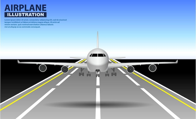 現実的な飛行機のモックアップまたは着陸と離陸のセット商用飛行機または飛行機ビジネス