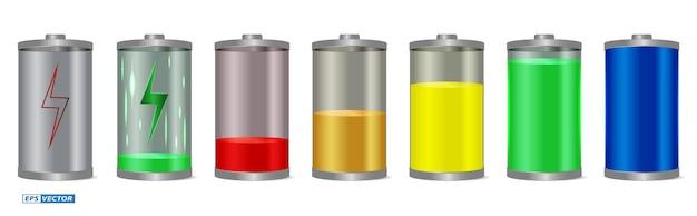 현실적인 배터리 충전 상태 격리 또는 배터리 잔량 표시기 세트