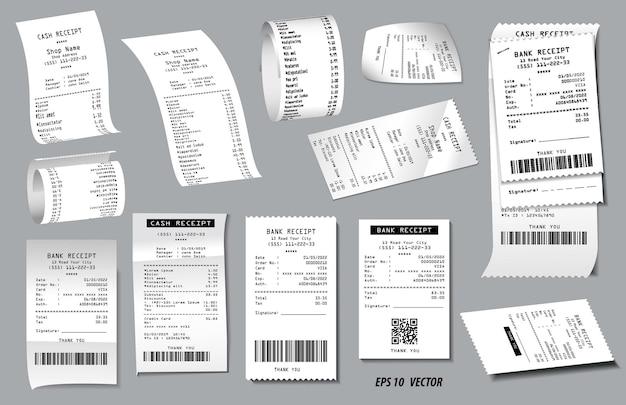 현실적인 금전 등록기 판매 영수증 격리 또는 현금 영수증 인쇄 백서 세트