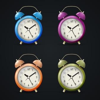 Набор реалистичных классических будильников