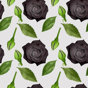 Набор реалистичных красочных роз