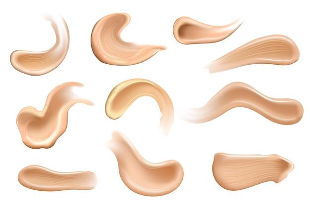 リアルな化粧用クリームのセットスミア異なるボディカラーのスキントナーローション滑らかなスミア