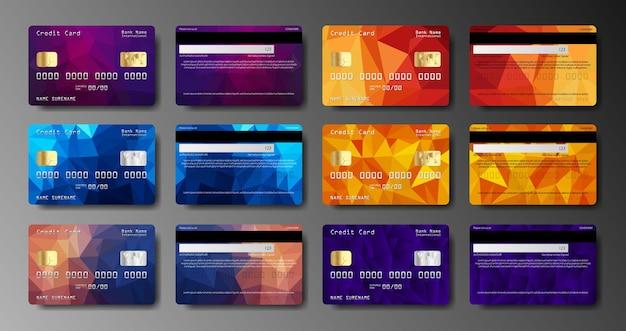 현실적인 신용 카드 양면 절연의 집합입니다.