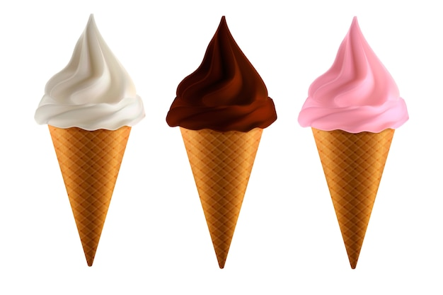 Набор реалистичного мороженого