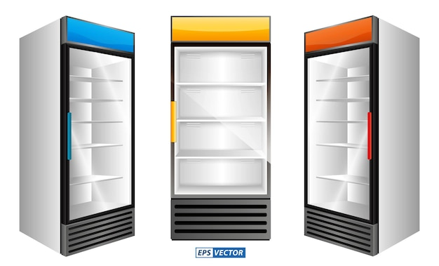 現実的な冷蔵庫ショーケース分離または商用冷蔵庫冷却ドリンク冷蔵庫のセット