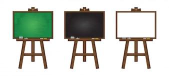 Set of realistic vector blackboard