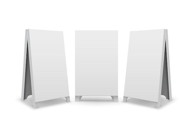 長方形の空の空白の広告のセット
