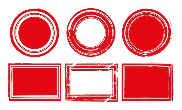 Набор марок красный гранж