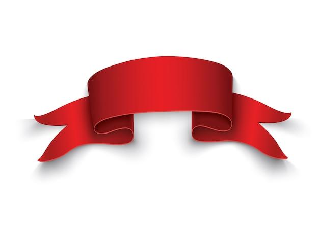 赤い巻物イラストのセット