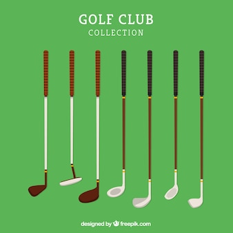 복고풍 골프 클럽 세트