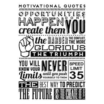Set of retro vintage motivational quotes