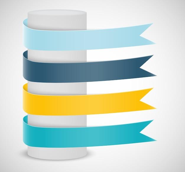 リボンのセット。インフォグラフィックデザイン