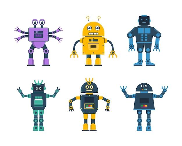 다양한 모델 로봇의 로봇 장난감 세트