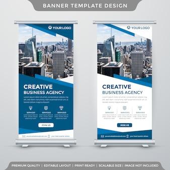 企業スタイルのロールアップまたはx-bannerテンプレートのセット