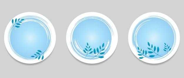 丸いボタンのセット手描きグランジ黒丸カードのグラフィックデザイン要素