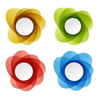 丸いカラフルなベクトルの形のセット