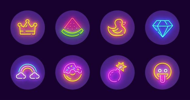 Набор круглых иконок для социальных сетей