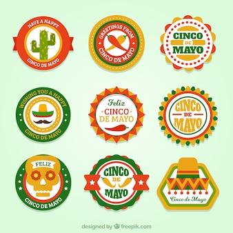 Набор округлый синко де майо наклейки
