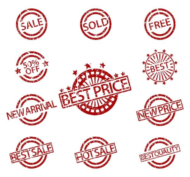 고무 우표 판매 세트