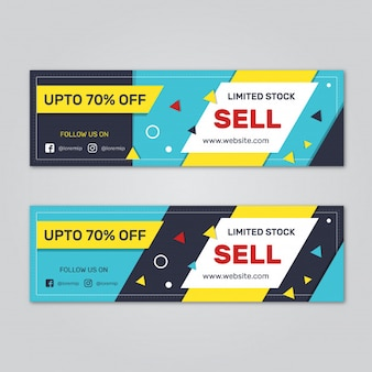 Set of sale web banners