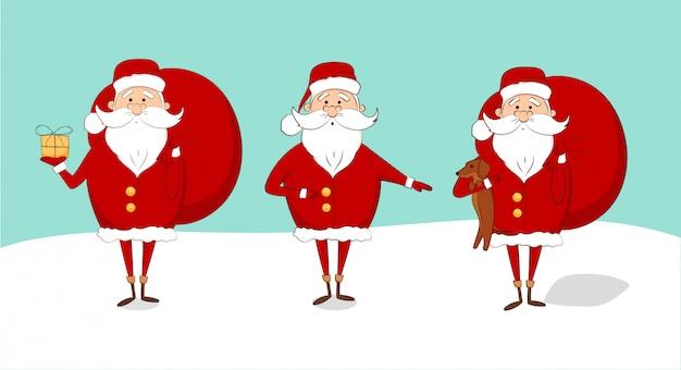 눈에 산타 클로스의 집합