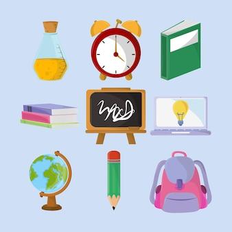 학교 교육 세트