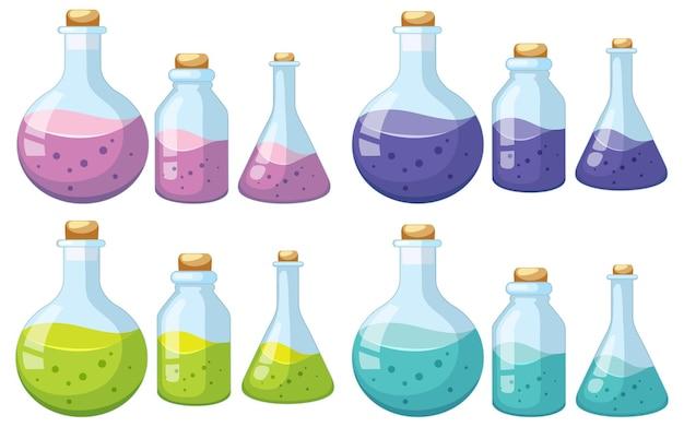 科学ガラス製品とビーカーのセット
