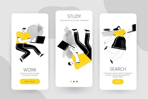 Комплект экранов для мобильного приложения