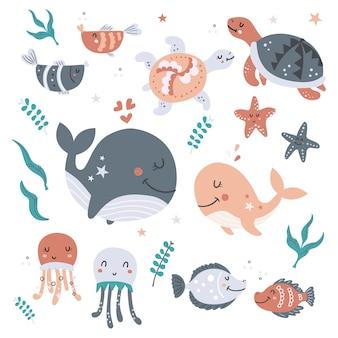 바다 동물 세트