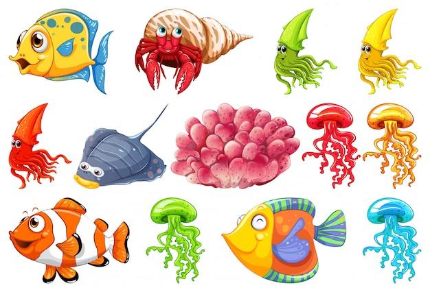 Набор морских существ