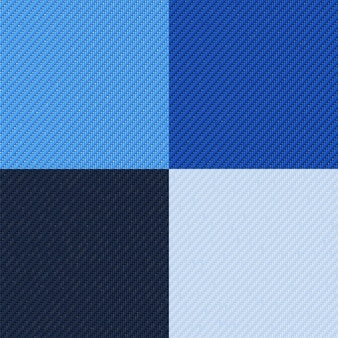 Набор бесшовных узоров джинсов черно-белая и синяя джинсовая ткань