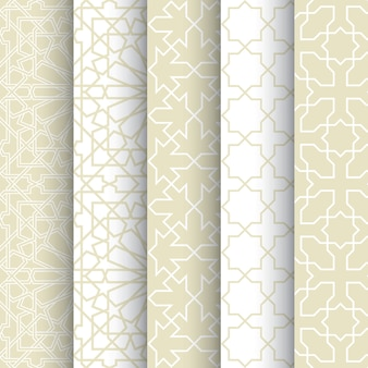 Set of seamless pattern of Islamic background