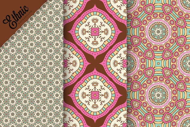 기하학적 요소와 원활한 패턴의 집합