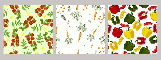 Набор бесшовные модели из овощей.