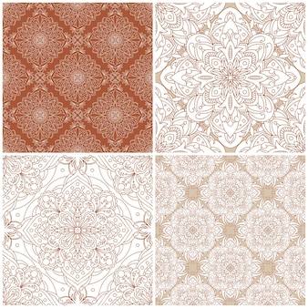완벽 한 패턴의 집합입니다. 빈티지 다 장식. 장식적인 배경입니다. 모든 디자인에 적합합니다.