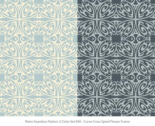 곡선 꽃 프레임으로 완벽 한 패턴의 집합