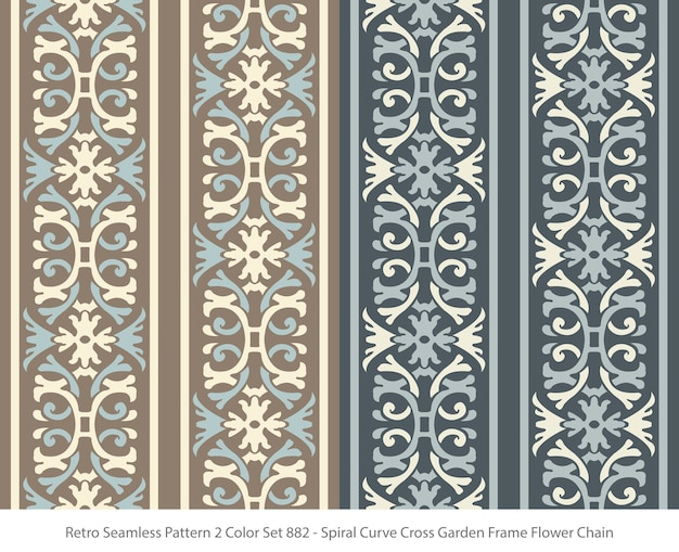 곡선 프레임 꽃 체인으로 완벽 한 패턴의 집합