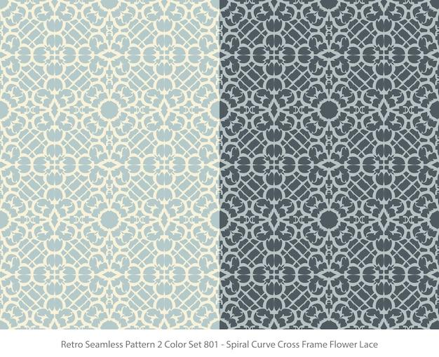 곡선 프레임 꽃 레이스와 완벽 한 패턴의 집합