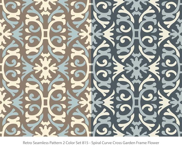 곡선 프레임 꽃과 완벽 한 패턴의 집합