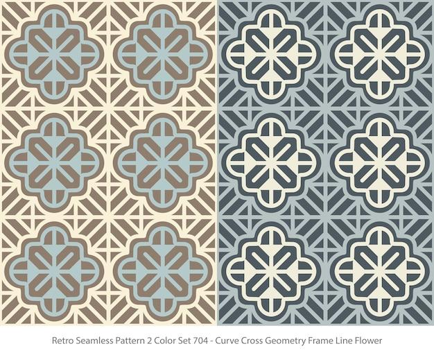 곡선 형상 프레임 꽃과 완벽 한 패턴의 집합