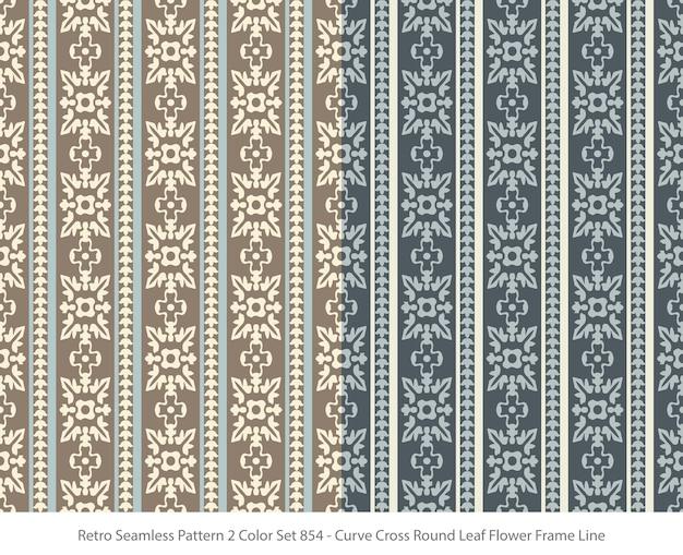 곡선 라운드 잎 꽃 프레임으로 완벽 한 패턴의 집합