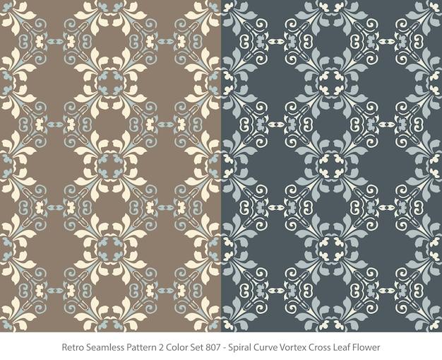 곡선 소용돌이 잎 꽃과 완벽 한 패턴의 집합