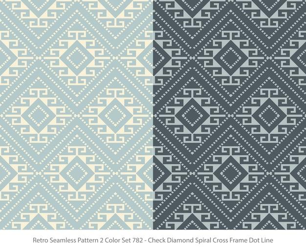 다이아몬드 프레임 도트와 완벽 한 패턴의 집합