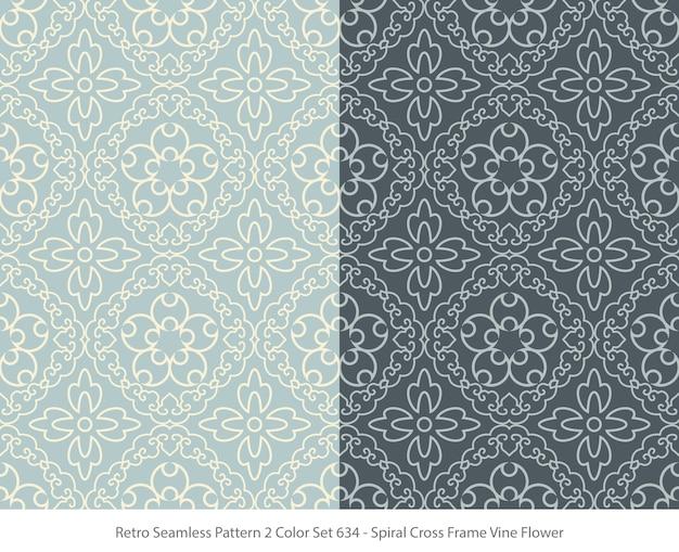 프레임 덩굴 꽃으로 완벽 한 패턴의 집합