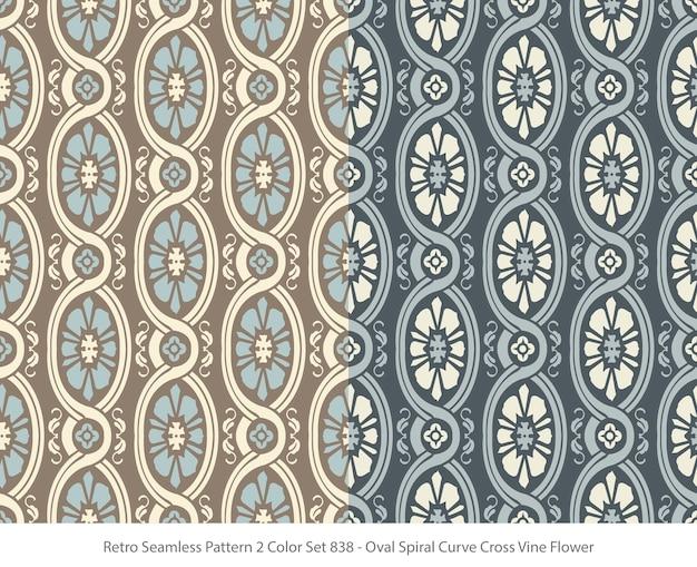타원형 곡선 포도 나무 꽃과 완벽 한 패턴의 집합