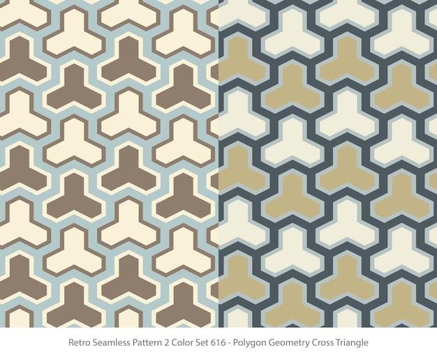 다각형 기하학 삼각형으로 완벽 한 패턴의 집합