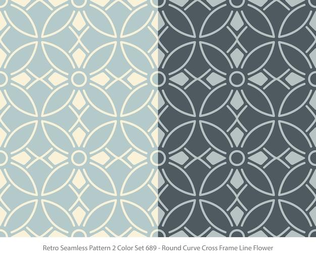 둥근 곡선 프레임 꽃과 완벽 한 패턴의 집합
