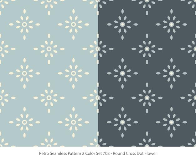 라운드 도트 꽃으로 완벽 한 패턴의 집합